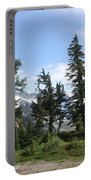 Fir Trees At Mount Baker Portable Battery Charger