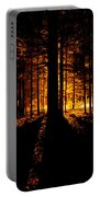 Fir Trees Back Lit  Portable Battery Charger