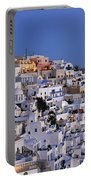 Fira Town During Dusk Time Portable Battery Charger