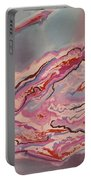 Fire And Ice Abstract Portable Battery Charger