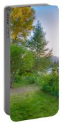 Fire And Water At Cottonwood Cottage Portable Battery Charger