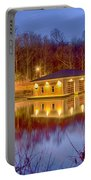 Fire Department Rescue Building On Water Portable Battery Charger