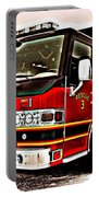 Fire Engine Red Portable Battery Charger