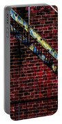 Fire Escape And Windows Portable Battery Charger by Bob Orsillo