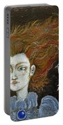 Fire Haired  Girl Portable Battery Charger