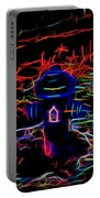 Fire Hydrant Bathed In Neon Portable Battery Charger