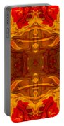 Fire In The Sky Abstract Pattern Artwork Portable Battery Charger