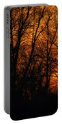 Fire In The Woods Sunset Portable Battery Charger