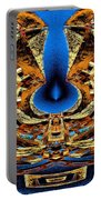 Fire In Wood Portable Battery Charger