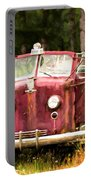 Fire Truck Digital Painted Portable Battery Charger