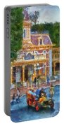 Fire Truck Main Street Disneyland Photo Art 02 Portable Battery Charger
