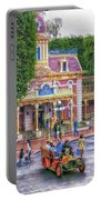 Fire Truck Main Street Disneyland Portable Battery Charger