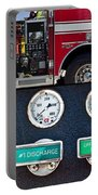 Fire Truck With Isolated Views Portable Battery Charger