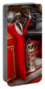 Fireman - Fire Engine No 3 Portable Battery Charger by Mike Savad