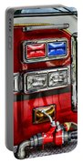 Fireman - Fire Engine Portable Battery Charger by Paul Ward