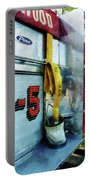 Fireman - Hose In Bucket On Fire Truck Portable Battery Charger