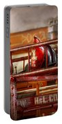 Fireman - Ladder Company 1 Portable Battery Charger by Mike Savad