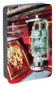Fireman - Lantern On Old Fire Truck Portable Battery Charger