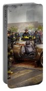 Firemen - The Fire Demonstration Portable Battery Charger by Mike Savad