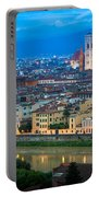 Firenze By Night Portable Battery Charger by Inge Johnsson
