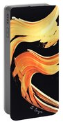 Firewater 5 - Abstract Art By Sharon Cummings Portable Battery Charger