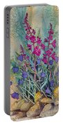 Fireweed And Bluebells Portable Battery Charger