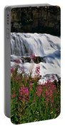 Fireweed Blooms Along The Banks Of Granite Creek Wyoming Portable Battery Charger
