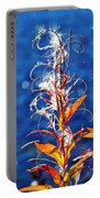 Fireweed Flower Portable Battery Charger by Heiko Koehrer-Wagner