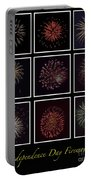 Fireworks - Black Background Portable Battery Charger
