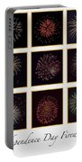 Fireworks - White Background Portable Battery Charger