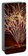 Fireworks At Tempe Town Lake  Portable Battery Charger by Saija  Lehtonen