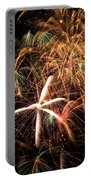 Fireworks Exploding Everywhere Portable Battery Charger by Garry Gay