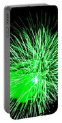 Fireworks In Green Portable Battery Charger