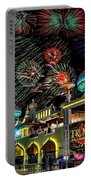 Fireworks Over Atlantic City Portable Battery Charger