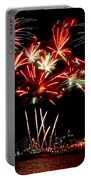 Fireworks Over The Delaware Portable Battery Charger by Nick Zelinsky