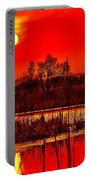 Firey Dawn Over The Marsh Portable Battery Charger