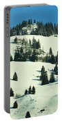 Firs Decoration Winterscape Portable Battery Charger