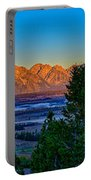 First Light On The Tetons Portable Battery Charger