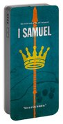 First Samuel Books Of The Bible Series Old Testament Minimal Poster Art Number 9 Portable Battery Charger by Design Turnpike