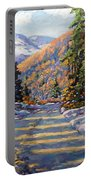 First Snow By Prankearts Portable Battery Charger by Richard T Pranke