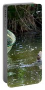 Fish Caught On A Line In Water Portable Battery Charger
