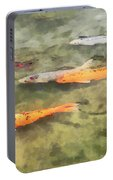 Fish - School Of Koi Portable Battery Charger
