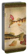 Fish Trio-a-greenborder Portable Battery Charger by Jean Plout