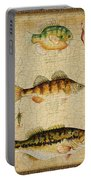 Fish Trio-c-basket Weave Portable Battery Charger
