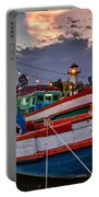 Fishing Boat Portable Battery Charger by Adrian Evans