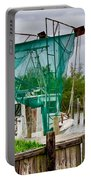 Fishing Boat And Pelicans On Posts Portable Battery Charger