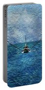 Fishing Boat As A Painting 2 Portable Battery Charger