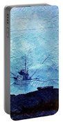 Fishing Boat As A Painting Portable Battery Charger