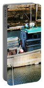 Fishing Boat In Rockport Portable Battery Charger