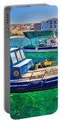 Fishing Boat On Turquoise Sea Portable Battery Charger